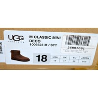 Ugg - Men's Australia Classic #1006523 Mini Short Brown Lined - Size 18 M/STT