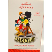 "Hallmark Keepsake 2014 ""Lights! Camera! Action! - Mickey and Goofey - Magic"