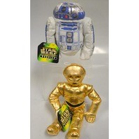 2 Star Wars Bean Bag Buddies: R2-D2 and C-3PO