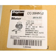 Dayton #20HN82 HVAC Motor,  HP:1/30, V:120,Hz:60, PH:1, Shaft 1/4 x 2.0