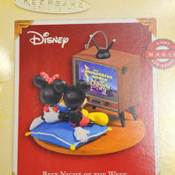 Hallmark Keepsake Disney Mickey Minnie Best Night of the Week Christmas Ornament