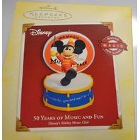 Hallmark Keepsake 2005 Disney Ornament Mickey Mouse 50 Years of Music & Magic