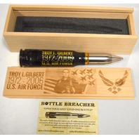 Bottle Breacher 50 Caliber Bullet Bottle Opener - Honoring a Fallen Hero -  in box