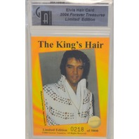 204 Elvis Presley Limited Edition #0218 of 5000, The King's Hair - Perfect Condition