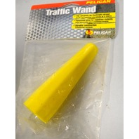 Pelican Traffic Wand - Fits securely on flashlight shroud - Florescent yellow