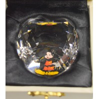 Mickey Mouse 50mm Heart - Hand cut crystal by Arribas Bros.#MKDoo1-MIC