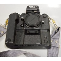 Nikon F3 HP 35mm #1669217 SLR Camera body w/ Nikon Winder MD-4 #176340