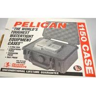 Pelican #1150 Waterproof Camera Case - Silver - with foam.