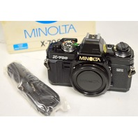 Minolta X-700 Camera with 50mm f2lens w/strap and batteries- New old stock.