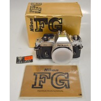 Nikon FG Camera Body - Chrome - New - Window display.