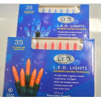 Holiday Creation - 35 LED lights for Indoor and Outdoor Use- 1 pk red/1 pk blue