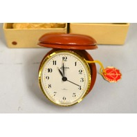 Linden 8 day Travel Alarm Clock, Clock made in France and Case made in Germany