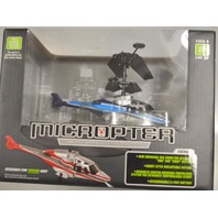 Microcopter-Micro wireless Helicopter 100' range. Multi Channel Control System.
