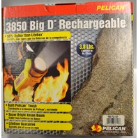 Pelican Big D 3850 Xenon Rechargeable NiCad Firefighter Flashlight - New old stock.