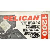 Pelican #1200 Case w/Form for Camera - Orange - Purge Valve/Easy open latches.