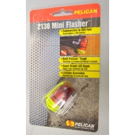 Pelican #2130 Mini Flasher-Submersible to 500 feet. Corrosion proof & Hi Visiblilty