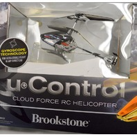 U Control Cloud Force RC Helicopter by Brookstone. Gyroscope Technology.
