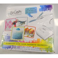 eBrush, the easy airbrush,Professional Quality, one-button airflow w/12 markers.