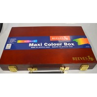 Reeves Superior Maxi Wooden Box #4910125 -  Full of art supplies.