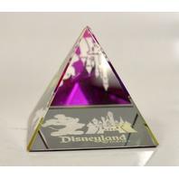 NEW!  Crystal Mickey and Castle Disneyland Pyramid