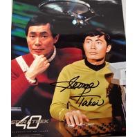 George Takei Signed Photograph Star Trek Celebrating 40 Years
