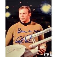 """ONE OF A KIND """"Beam Me Up"""" Signed by William Shatner"""