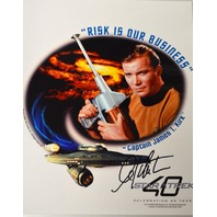 """Autographed """"Risk is our Buisness"""" Star Trek 40 William Shatner"""