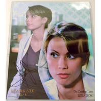 Stargate Signed Photograph Lexa Doig as Dr. Carolyn Lam With Protective Cover