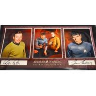 Star Trek Signed Poster William Shatner-Leonard Nimoy