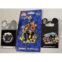 Disney 2010 - 2 - Twenty 10 Pins and 1- 2010 Lanyard Medal