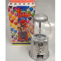 Petite Antique Silver Gumball Machine-Glass Globe, Cast Metal base  #7001 - New