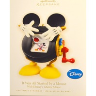 """Hallmark 2009 Disney """"It Was All Started by a Mouse. - Mickey Mouse."""