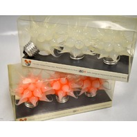 Kikkerland Design Light Bulbs - Edison base -  3 Opaque/3 Orange -  NIB
