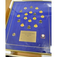 1984 Framed Buick Pin Set  And Olympic Years - 20 Pins in original box #4392 LE