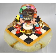 Ron Lee Sculpture 2004 - #MM1562F Mickey and Minnie -Onyx Base-24K Gold Paint