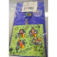 Disney 2011 Disney Parks Hip Lanyard Pin Set w/4 Pins.