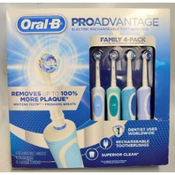 Family 4 Pack Oral-B Advantage Rechargeable Toothbrush Proadvantage.