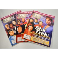 3 TV Guides-4/17-23/2005 Of Star Trek Covers of Captains and Crew.
