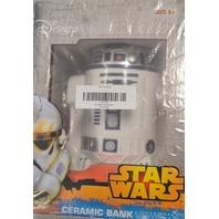 """Star Wars R2-D2 Ceramic Bank - 5.74""""W x 8.26""""H x 4.72"""" D."""