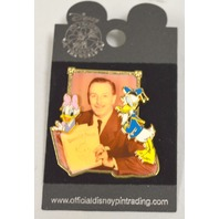 Disney Collectible Pin - Donald and Daisy Duck w/Walt's Picture