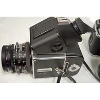 Hasselblad 500 C/M, 3 Backs (12),2.8/80 Planar Lesn, Sonnar 4/150 Lens w/hard case.