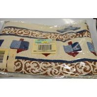 Blanket Throw for Hanukkah 50x60 - Red/Blue