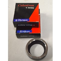 Celectron T-Ring -T Mount Adapter.  3 pcs. 2 for Nikon and 1 for Olympus.