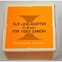SLR Lens Adapter (C Mount) For Video Camera for Minolta.