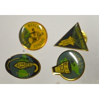 4 Pin Collection: Freedom 7 Mercury, Space Shuttle, Apollo Nasa, Gemini - New.