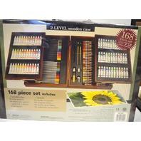 Art Studio by Battat, 2 Level wooden case, 168 pcs. set. Never opened.