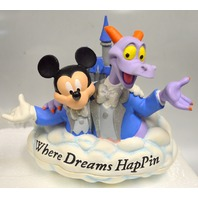"""Disney Epcot Figment & Mickey """"where dreams HapPin"""" LE of 300."""
