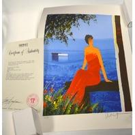 """Emile Bellet Sur Le Bord Bleu de L'eau, 1999, 15""""x11"""",Lithograph signed and numbered"""