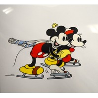 "Disney Unframed Limited Edition Serigraph Cel of Mickey & Minnie ""On Ice"""
