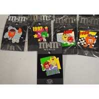 Lot of 9  M&M's World Collectible Pins. New.